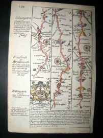 Owen & Bowen C1740 Map. Somerset, Devon. Taunton, Wellington, Bradninch Exeter